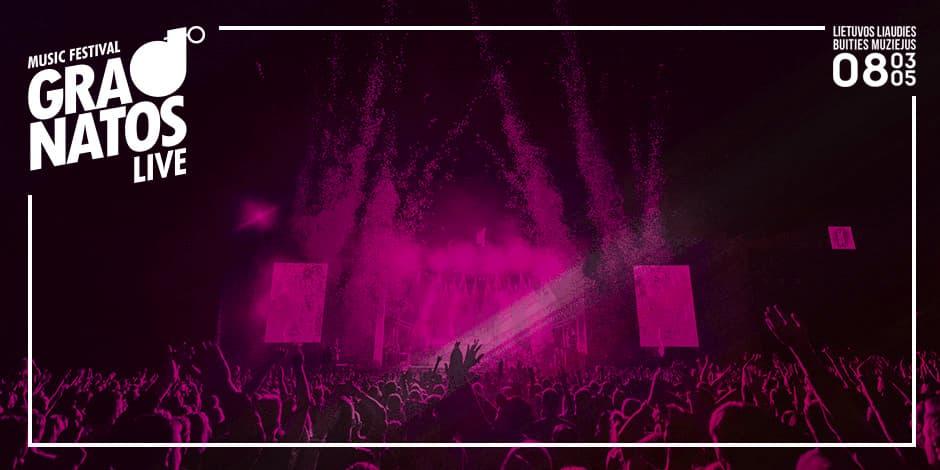 """Apgyvendinimas festivalyje """"Granatos Live"""""""