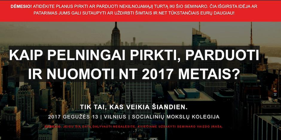 KAIP PELNINGAI PIRKTI, PARDUOTI IR NUOMOTI NT 2017 METAIS?