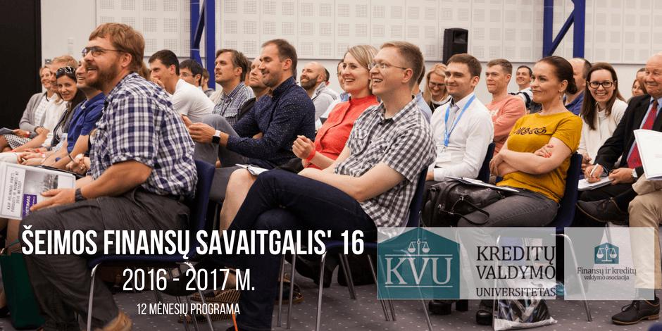 """""""ŠEIMOS FINANSŲ SAVAITGALIS' 2016"""" (III kursas)"""