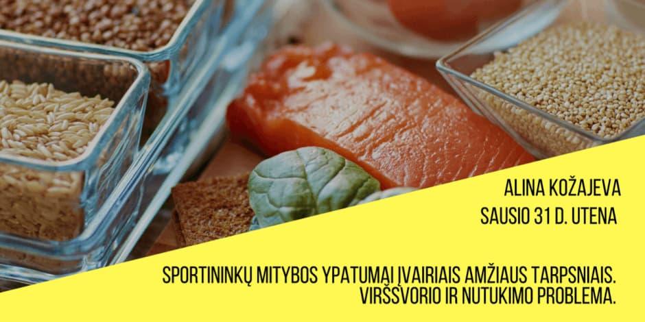 """""""Sportininkų mitybos ypatumai įvairiais amžiaus tarpsniais. Viršsvorio ir nutukimo problema"""""""