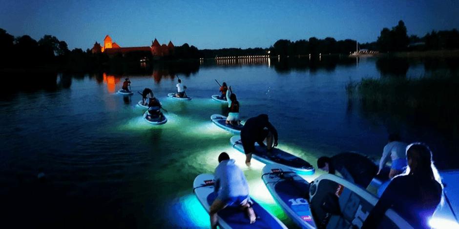 Naktinis irklenčių turas aplink Trakų pilį 08-10