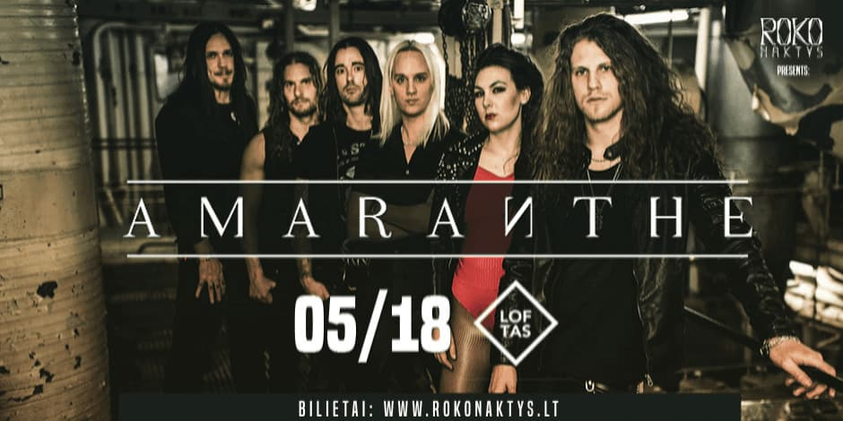 Roko naktys presents: Amaranthe (SE) + guests
