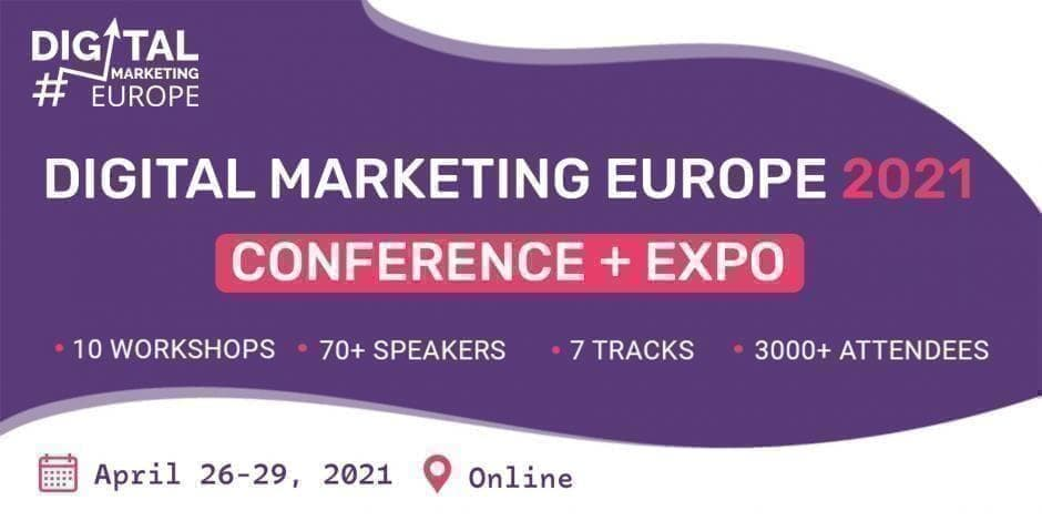 Digital Marketing Europe 2021 Conference + Expo / Online / VIP Pass