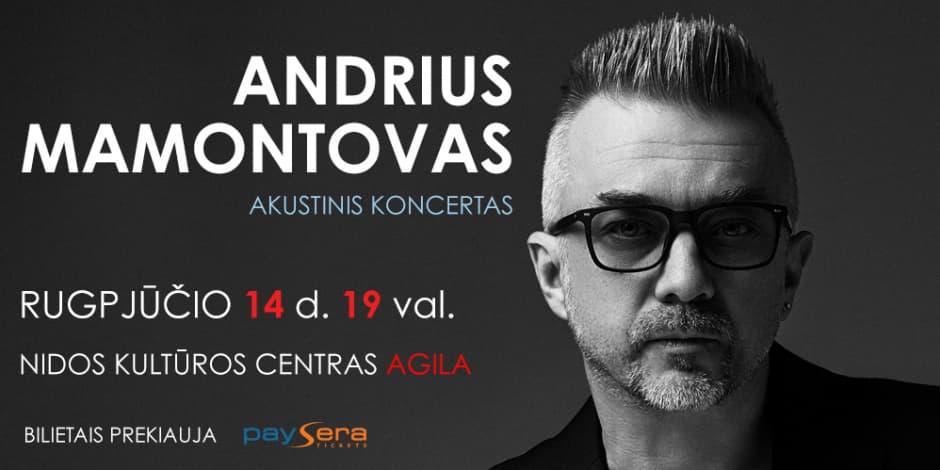 Andriaus Mamontovo akustinis koncertas Nidoje