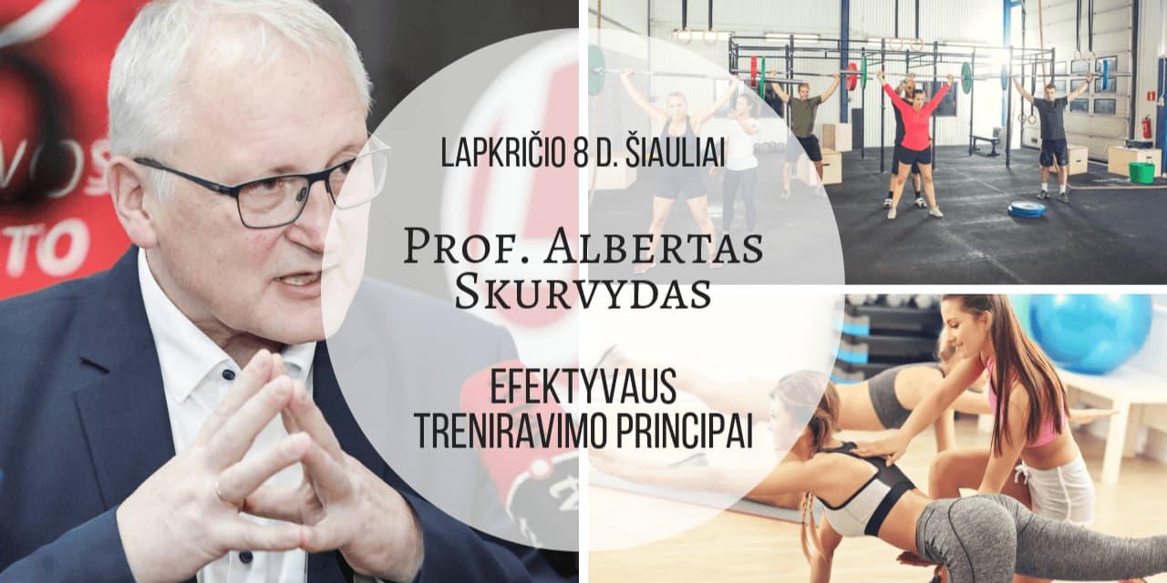 """Lapkričio 8 d. Prof. Alberto Skurvydo seminaras Šiauliuose """"Efektyvaus treniravimo principai"""""""
