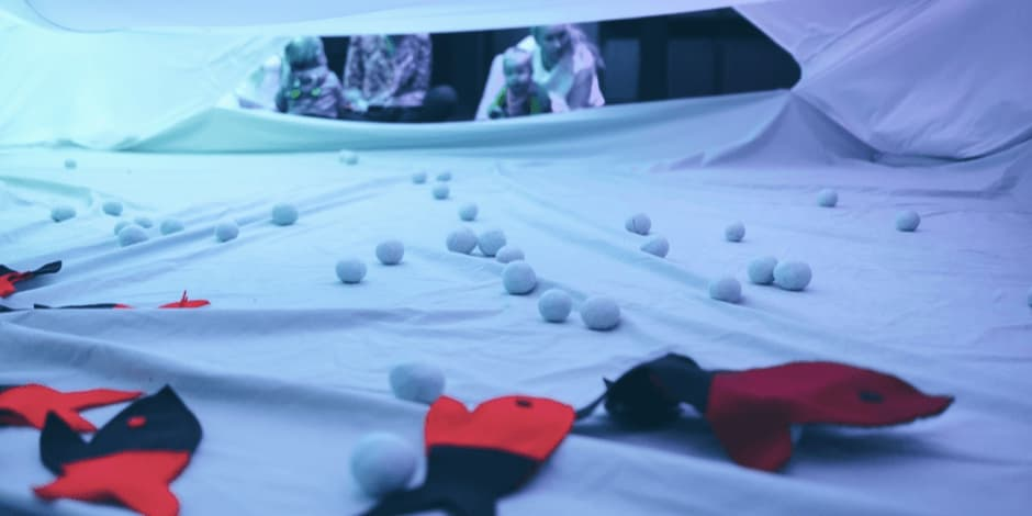 """Šokio ir judesio spektaklis 6-18mėn.kūdikiams ,,Debesų gaudyklė"""""""
