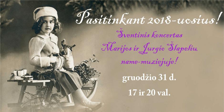 Šventinis koncertas Marijos ir Jurgio Šlapelių name-muziejuje!