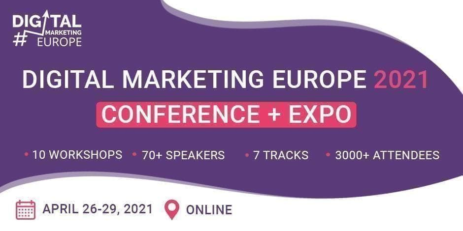 Digital Marketing Europe 2021 Conference + Expo / Online / Expo Pass