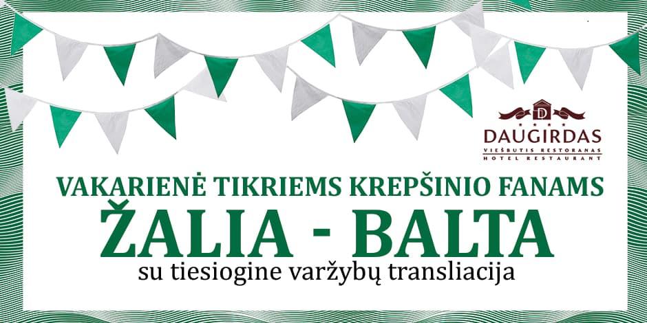 """Vakarienė """"Žalia-Balta"""". """"Hanzos dienos 2018"""". (18.00 val.)"""