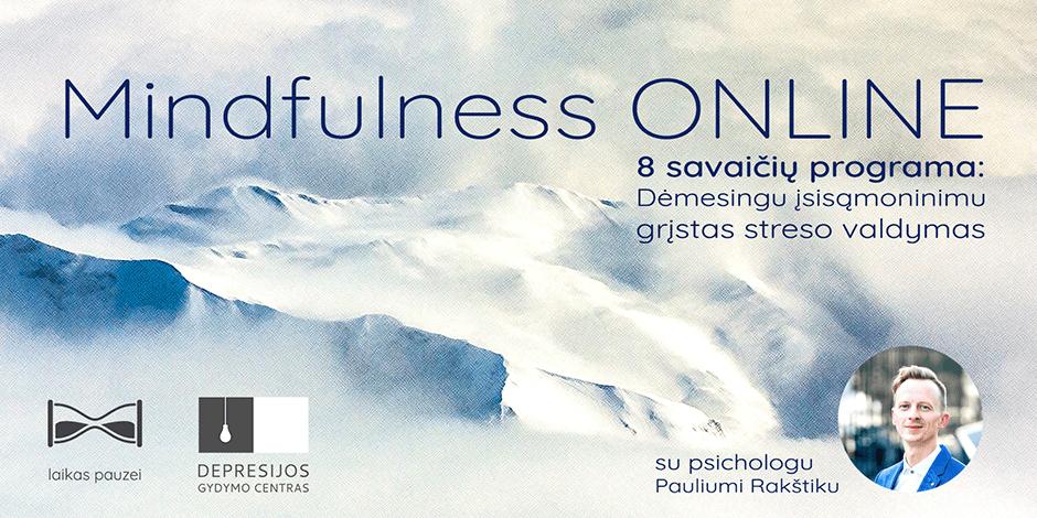 Mindfulness: 8 savaičių streso valdymo programa ONLINE
