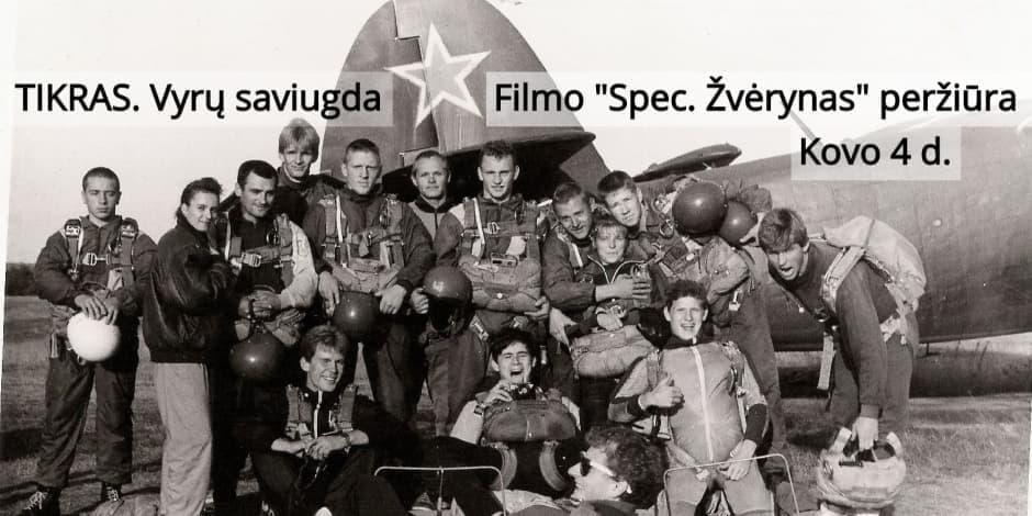 TIKRAS. Filmo SPEC. ŽVĖRYNAS peržiūra ir diskusija vyrams