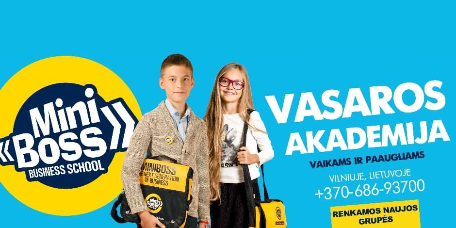 MiniBoss vasaros akademija Vilniuje