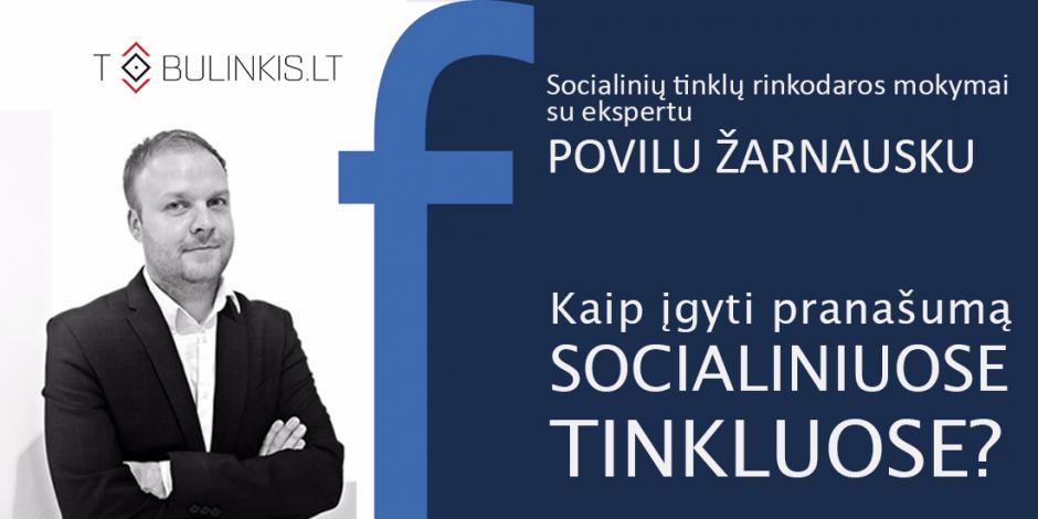 Socialinių tinklų rinkodaros mokymai