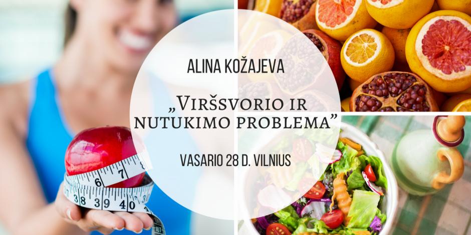 """Seminaras Vilniuje. Vasario 28 d. A.Kožajeva: """"Viršsvorio ir nutukimo problema""""."""