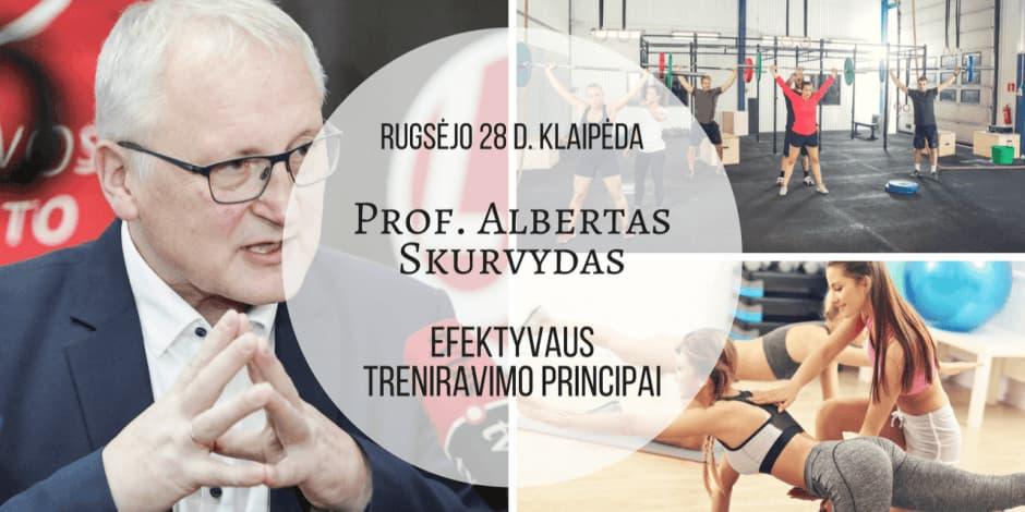 """Rugsėjo 28 d. Prof. Alberto Skurvydo seminaras Klaipėdoje """"Efektyvaus treniravimo principai"""""""