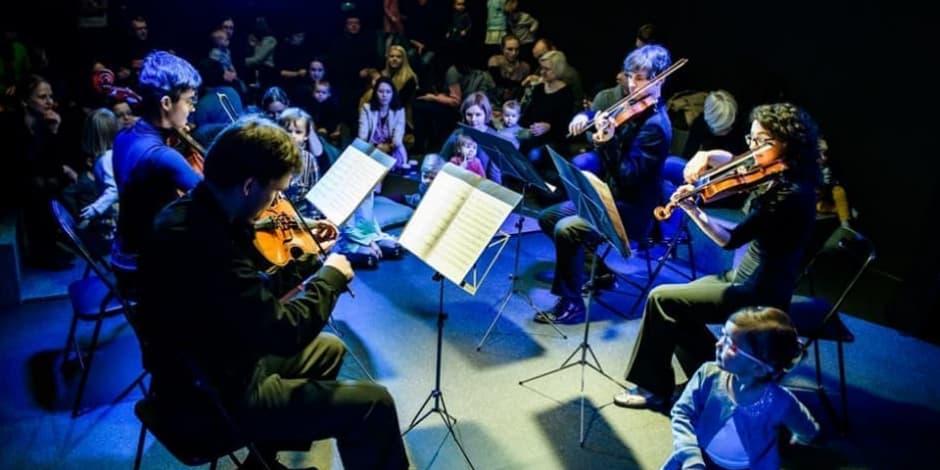 Augu su muzika: styginių kvartetas (rekomenduojama 6 mėn. - 4 m. vaikams)