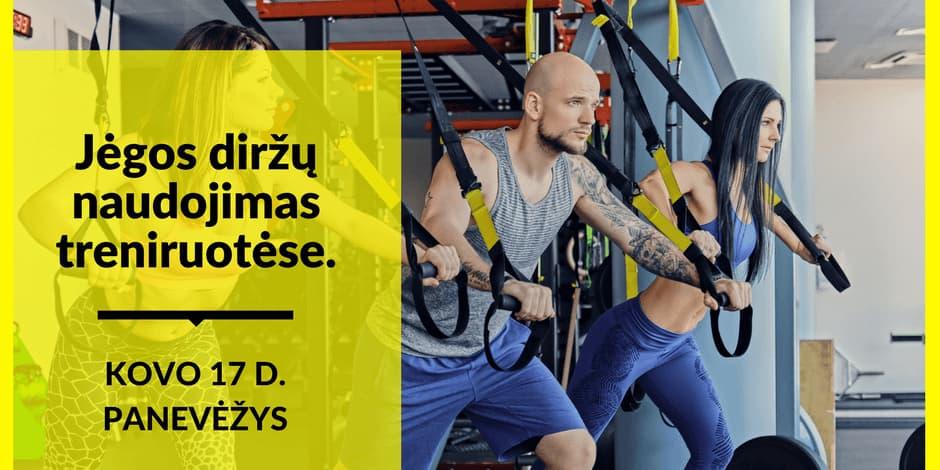 Jėgos diržų naudojimas treniruotėse. Seminaras treneriams ir sportuojantiems.