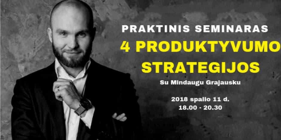 4 produktyvumo strategijos