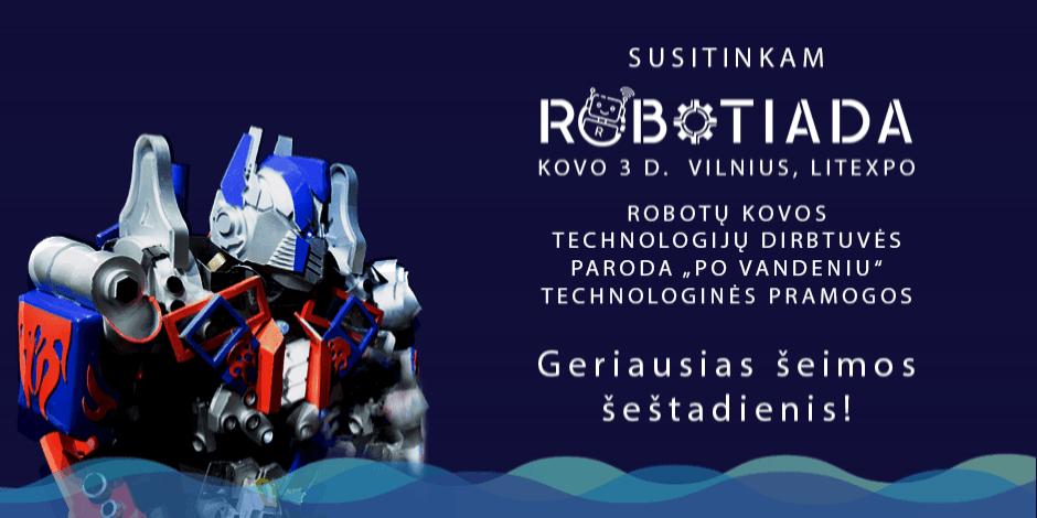 Robotiada 2018 labdaros-paramos renginys