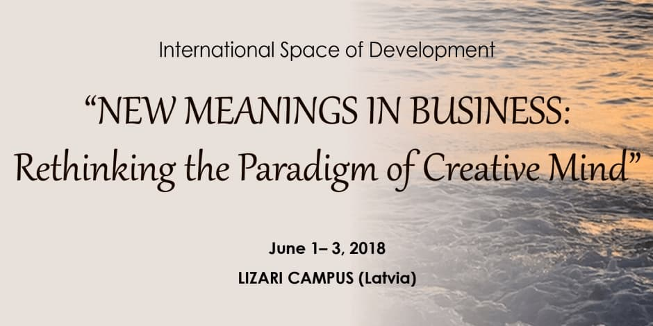 NEW MEANINGS IN BUSINESS: Rethinking the Paradigm of Creative Mind