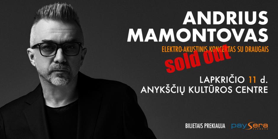 Stovimi bilietai į Andriaus Mamontovo koncertą