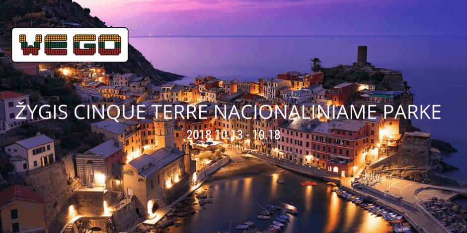 WE GO   Žygis Cinque Terre, Italijoje