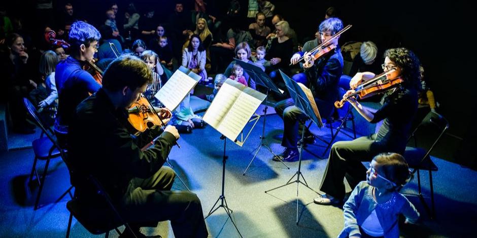 Augu su muzika: styginių kvartetas
