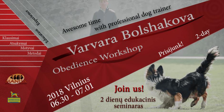 Obedience seminaras su Varvara Bolshakova