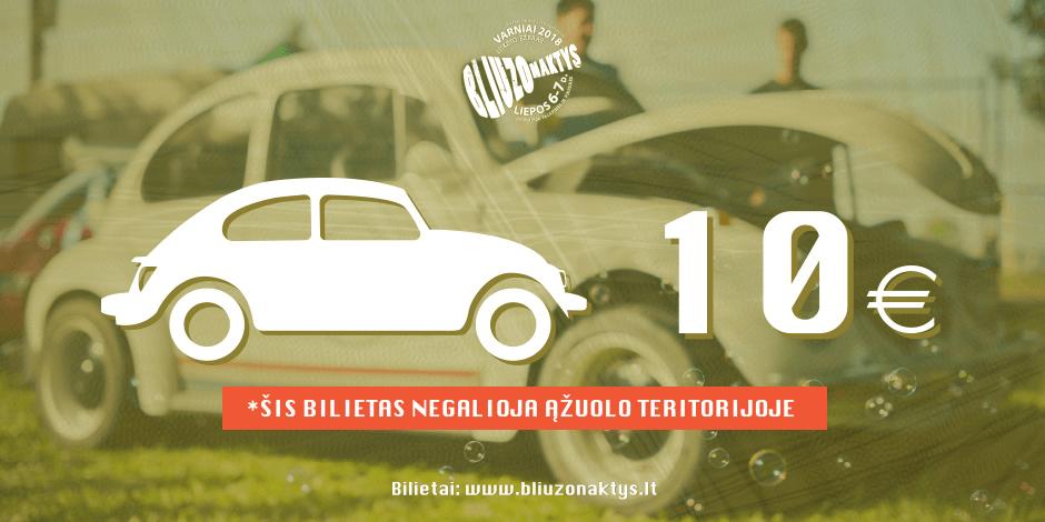 Bliuzo Naktys 2018 PARKINGO BILIETAS