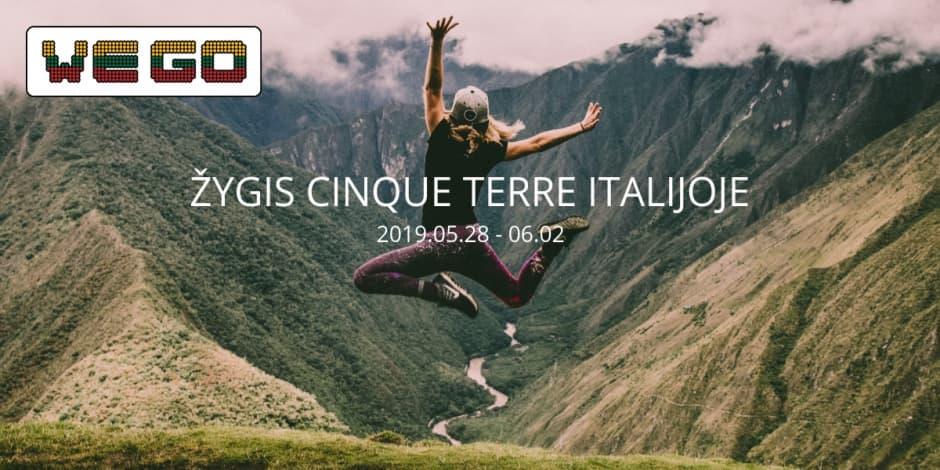 WE GO | Žygis Cinque Terre, Italijoje