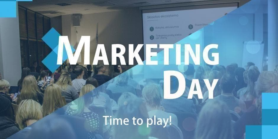 Marketing day. Time to play