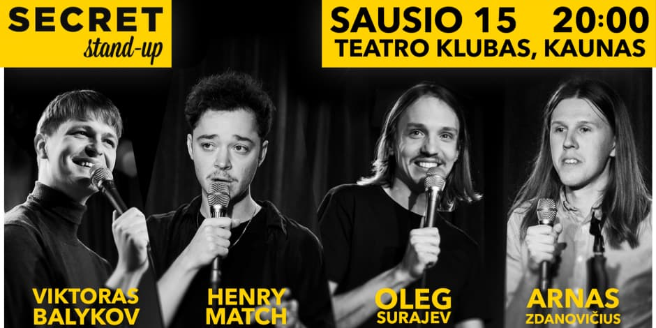 Secret Stand-up 01.15 Kaunas #2
