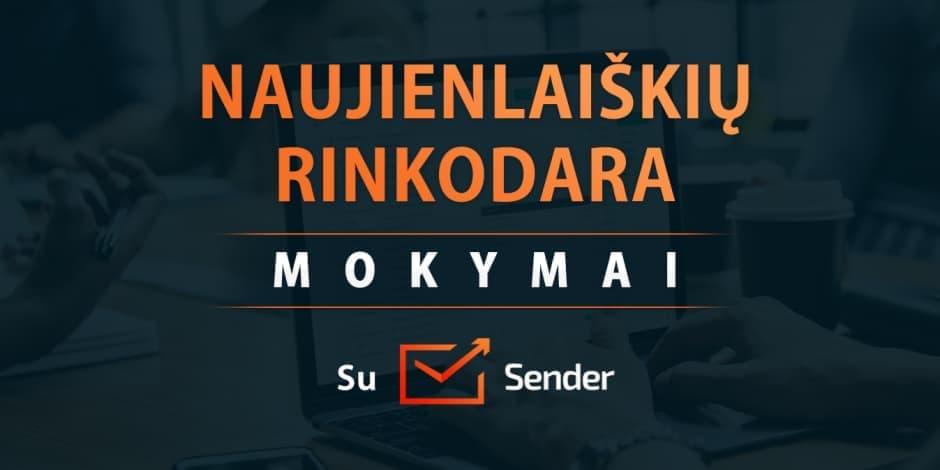 Naujienlaiškių rinkodara. Mokymai su Sender.net