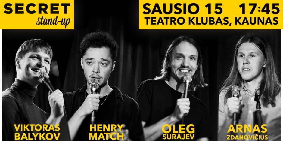 Secret Stand-up 01.15 Kaunas #1