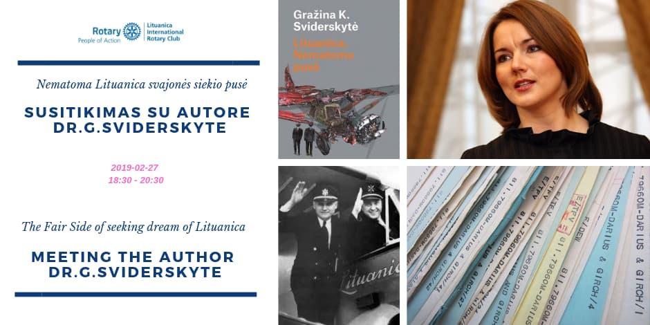 Lituanica: Nematoma pusė - unikali proga susitikti su autore Gražina Sviderskyte
